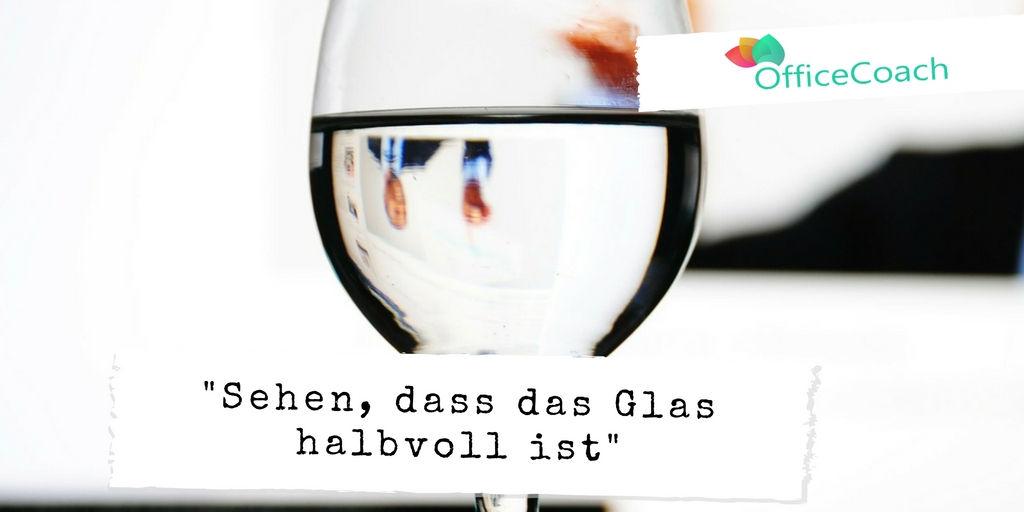 Das Glas ist halbvoll Perpektive
